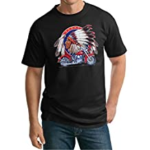 Buy Cool Shirts Mens Indian Motorcycle T-shirt Big Chief Tall Shirt