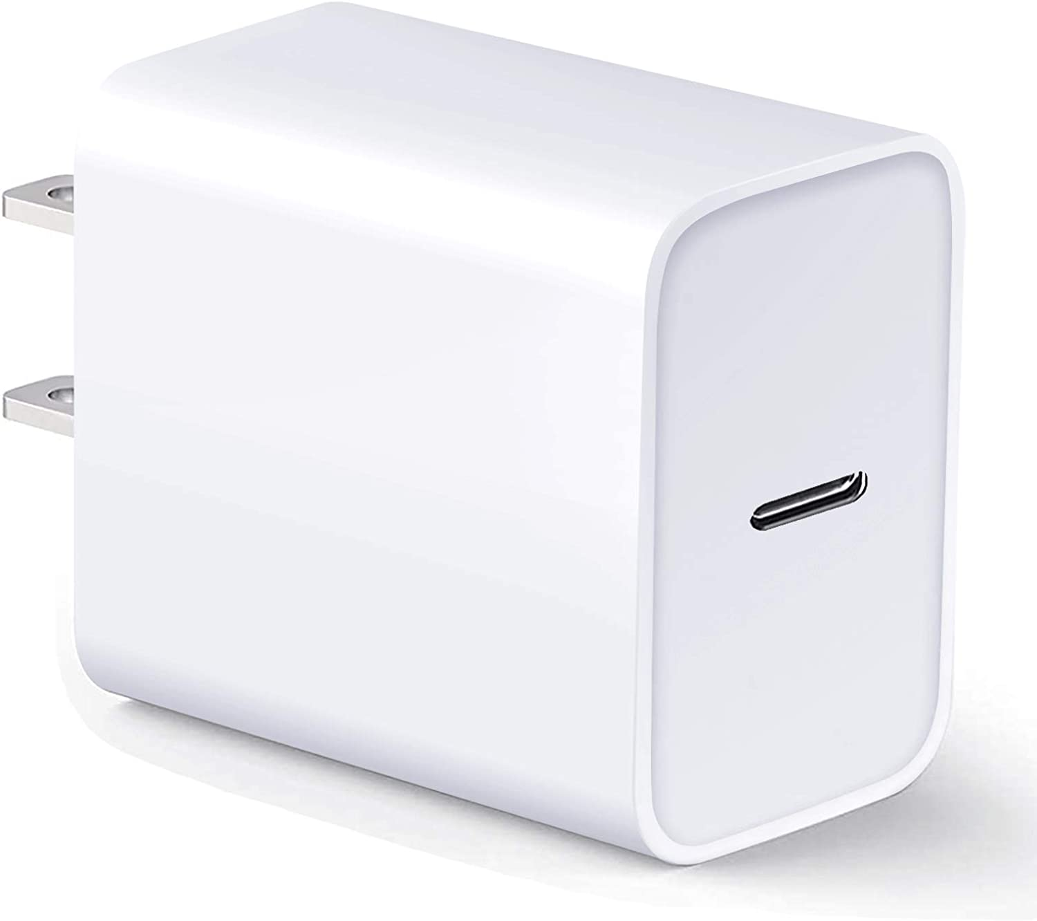 USB C Wall Charger 18W PD Power Adapter,Fast Charging Block Compatible with iPhone 12 11 Pro Max Xs XR X 8 Plus AirPods Pro and More