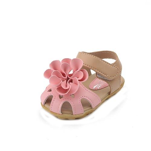 309354729c585f JUSTSL Summer Kids Toddler Girl s Flower Shoes Closed Toe Princess Children Girls  Sandals  Amazon.ca  Shoes   Handbags
