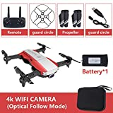 AKDSteel Drone x pro 5G Selfie WiFi FPV with 4K HD Dual Camera Foldable RC Quadcopter 4K red 1 Battery