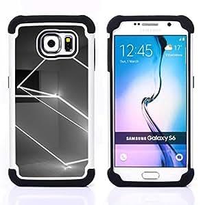 - art lightshow rectangle black white/ H??brido 3in1 Deluxe Impreso duro Soft Alto Impacto caja de la armadura Defender - SHIMIN CAO - For Samsung Galaxy S6 G9200