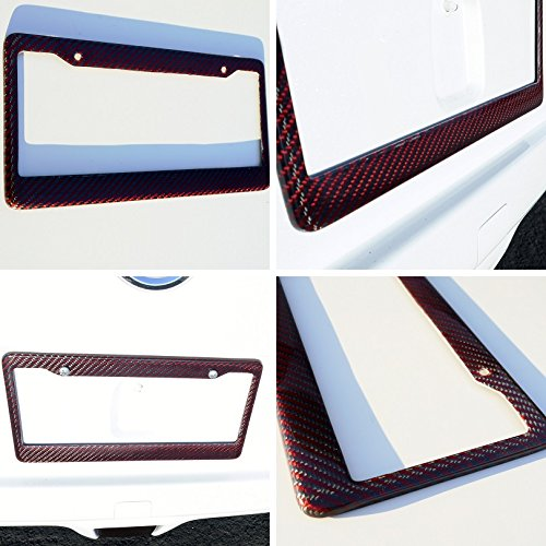 red and black license plate frame - 4