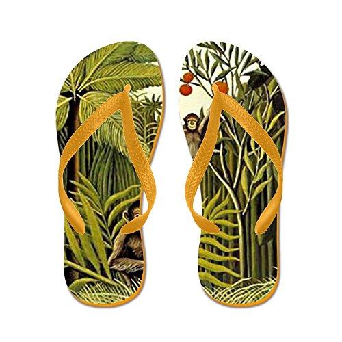 Cafepress De Apen In De Jungle, Rousseau Pai - Flip Flops, Grappige String Sandalen, Strand Sandalen Oranje