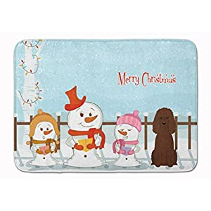 Caroline's Treasures BB2394RUG Merry Christmas Carolers Irish Water Spaniel Machine Washable Memory Foam Mat, 19 X 27, Multicolor 33