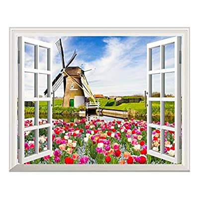 Removable Wall Sticker Wall Mural Windmill and Colorful...