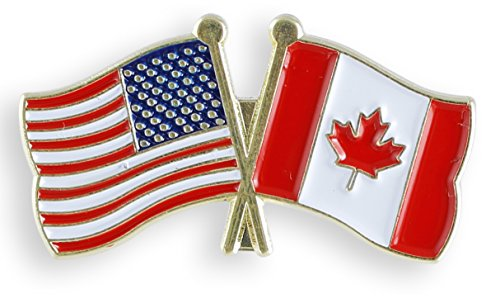 American Flag x Canada Flag Enamel Lapel Pin (10 Pins)