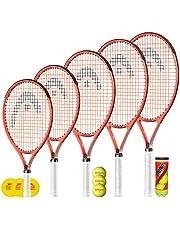 """HEAD Radical Junior Tennisracket + 3 tennisballen (verschillende balopties) 19"""", 21"""", 23"""", 25"""" & 26"""""""