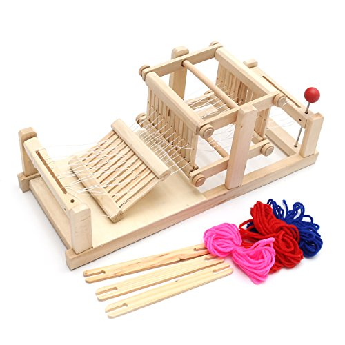 Amazon Wood Crafts For Kids Weaving Loom Brocaded Enginery