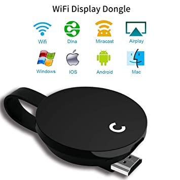 YEHUA Wireless Display Receiver Miracast WiFi Display Adapter Screen  Mirroring Dongle Compatible Airplay Miracast DLNA for iOS Devices Android