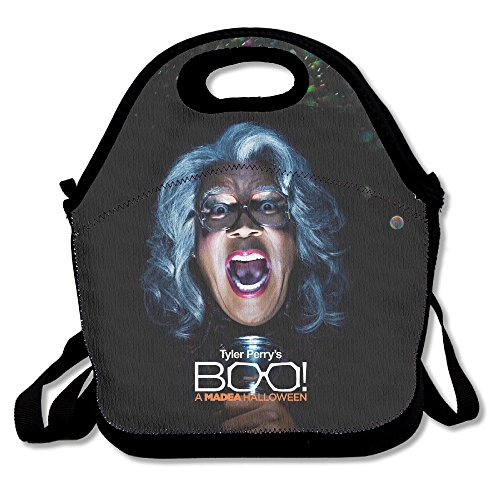 Bakeiy Boo! A Madea Halloween Lunch Tote Bag Lunch Box Neoprene Tote For Kids And Adults For Travel And Picnic (Halloween Rent)