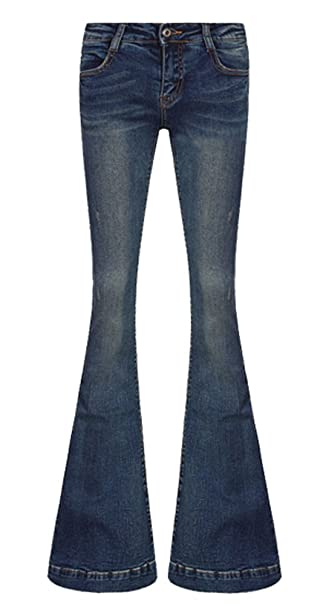 official photos great look top-rated AvaCostume Women's Mid-Rise Bell-Bottom Wide Leg Flare Jeans ...