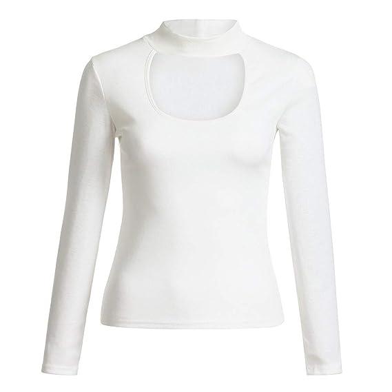 Vectry Rebajas Camiseta con Manga Larga Blusa Lisa Camiseta con Escotado Blusa De Moda Camiseta Lisa: Amazon.es: Ropa y accesorios