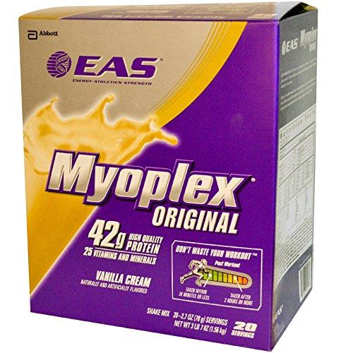 Eas 20 Packet - EAS, Myoplex Original Shake Mix, Vanilla Cream, 20 Packets, 2.7 oz (78 g) Each - 2pc