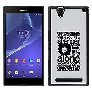 Caucho caso de Shell duro de la cubierta de accesorios de protección BY RAYDREAMMM - Sony Xperia T2 Ultra - Profundo Mensaje Acerca de Gente