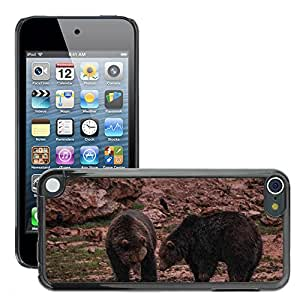 Etui Housse Coque de Protection Cover Rigide pour // M00133931 Osos Mud Fauna Animales Animal // Apple ipod Touch 5 5G 5th