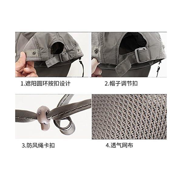 YUFUMAO Cappello Alpinismo Parasole per Protezione Solare Parasole Estraibile Berretto da Pesca Traspirante UV… 4 spesavip