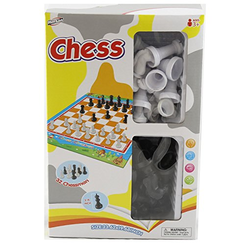 Children's Classic Game Box Includes Chess and Checkers Toy Board Games - Wholesale Toys - Case of 48 by David's Wholesale