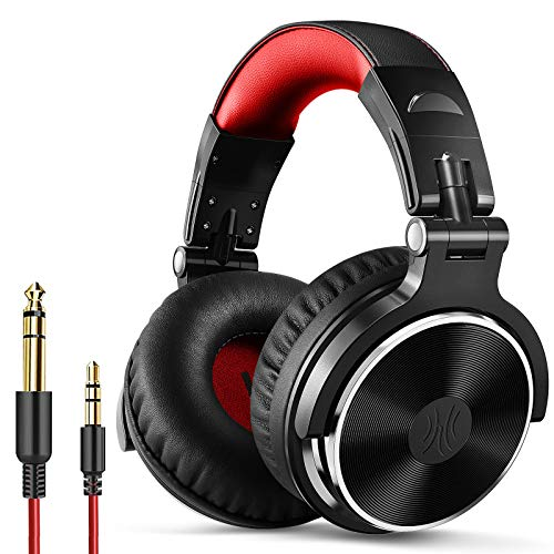 OneOdio PRO 10 Over-Ear Wired Headphone (Red)