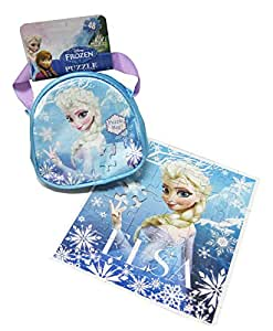 Disney Frozen 48pcs Elsa Puzzle & Carry and Go Fashion Bag with Bonus Frozen Bracelet Making Kit