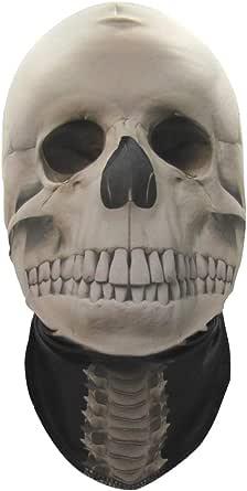 Faux Real Unisex-Adult's Skeleton Mask, White, One Size