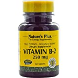 Nature's Plus, Vitamin B-2, 250 mg, 60 Tablets - 3PC