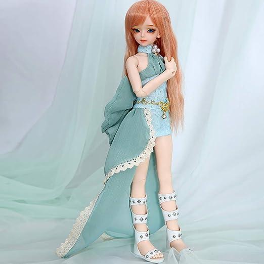 W&Y 1/4 BJD Doll 19 Ball Joints SD muñecas con Traje Vestido ...