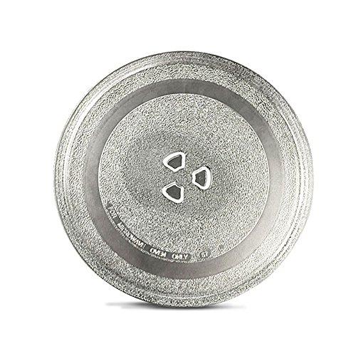24,5cm Thickened resistente al calor Microondas Plato para tocadiscos (Cristal) Bandeja accesorios