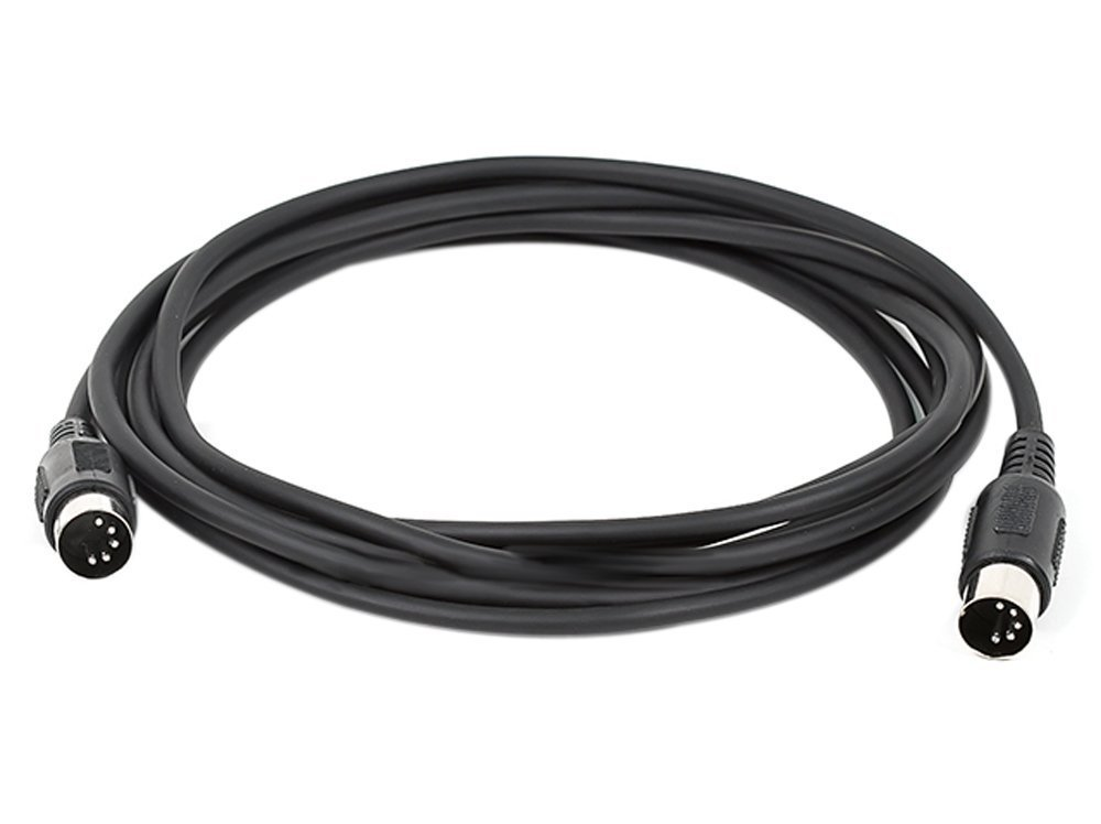 Monoprice MIDI Cable with 5 Pin DIN Plugs, 10-Feet, Black (108533) (2 Pack)