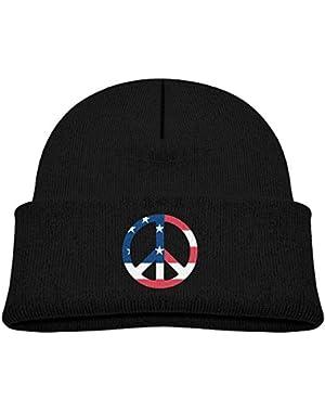 Fashion Peace Printed Baby Boy Girls Winter Hat Beanie
