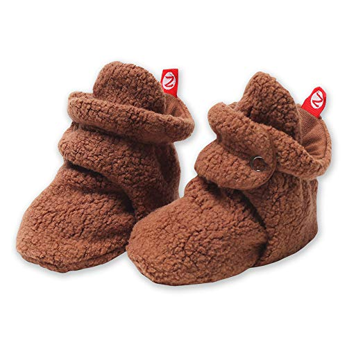 Chocolate Moc - Zutano Newborn Unisex-Baby Fleece Bootie, Chocolate, 12 Months