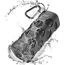 Bluetooth Speakers Portable Speaker Outdoor, 20W Dual Driver, Enhanced Bass, 5200mAh Powerbank, Waterproof, Shockproof, Unbreakable, Dustproof, Built-in Mic, NFC Support, 24 Hours Play for Party, Pool