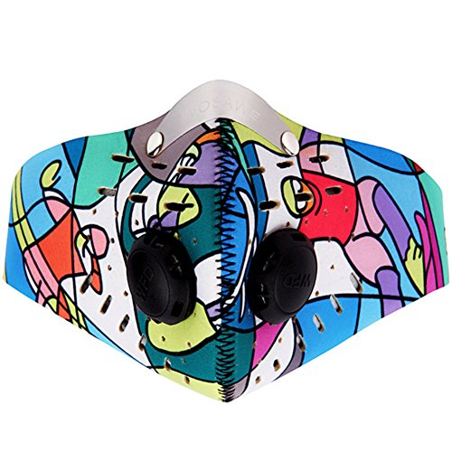 Super-Anti-Pollution-Motorcycle-Bicycle-Cycling-Racing-Mask-Carbon-Cloth-Bike-Ski-Half-Face-Mask-Filter-Colorful