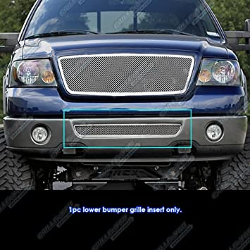 APS Compatible with 2006-2008 Ford F-150 Lower Bumper Black Billet Grille Insert F65352H