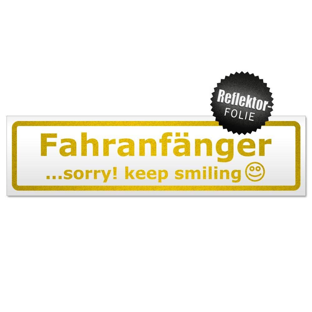 Keep Smiling Magnetschild Schild magnetisch Kiwistar Fahranf/änger Sorry