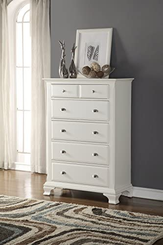 Roundhill Furniture Laveno Wood 5-Drawer Chest