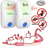 Ultrasonic Pest Repeller – Pack of 2 [2018 UPGRADED] Pest Control Electronic Plug-In-Repellent for Indoor and Outdoor Use – Fight Insects Bug Mice Rats and More