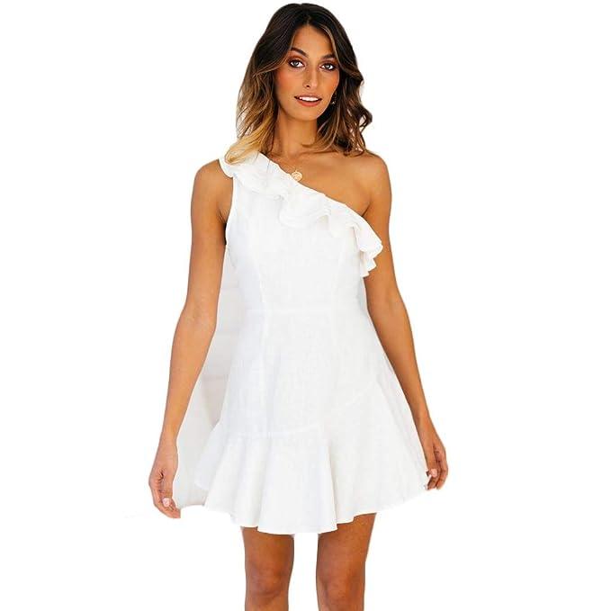 nuovo stile 3720d 48422 Vestiti Eleganti Corti Mini da Donna Ragazza Abito Vestito ...