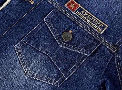 D'hiver Jean Plus Essentiel Cowboy Wear En 1 Velvet Épaisse Manteau Parka Laine Veste Denim schwarz Fourrure Classic 5Pvqxw