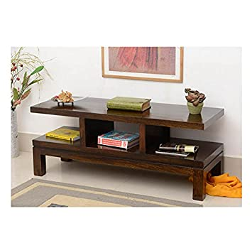jangir jdtv1158 solid wood tv stand glossy finish brown