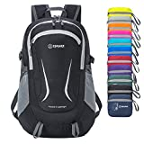 ZOMAKE Ultra Lightweight Hiking Backpack - Packable Durable Water Resistant Travel Backpack Daypack for Women Men(Black)