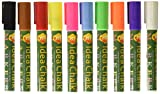 Idea Chalk Easy to Use, Easy Clean Up Bright Vibrant Liquid Chalk Marker Pens For Arts, Crafts, Drawing, Bistro Menus, Playtime, Vehicle Window Messaging, Educational Activities & Office Presentations
