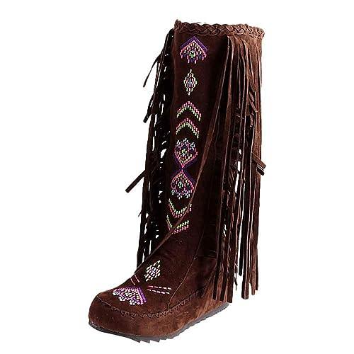 acheter de nouveaux vente professionnelle acheter en ligne Bottines Indiennes Femme Bottes Western Escarpins Vintage, Shoes Imprimé  Mode Escarpins Ultra Confort Bottes Rouge Talon Interieur 3cm Chaussure Pas  ...