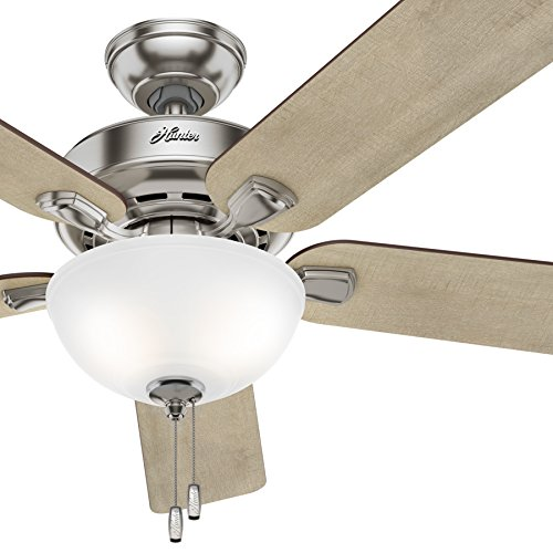 Cheap Hunter Fan 52 inch Brushed Nickel Traditional Ceiling Fan with Bowl Light Kit, 5-Blade (Certified Refurbished)