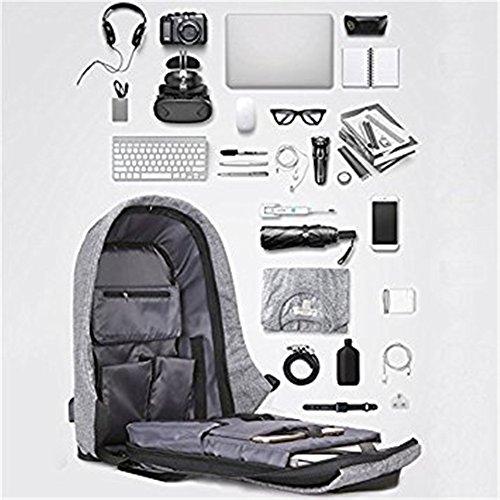 Rucksack für Notebook-Computer, Business, Reisen, Arbeit, Ruiying Business Laptop Rucksack mit USB-Lade-Port, Diebstahlsichere Großraum Reise Rucksack School Case (Blau) Violett