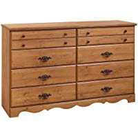 South Shore Furniture, Prairie Collection, 8 Drawer Triple Dresser, Country Pine