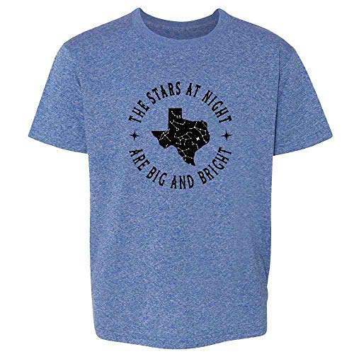 Texas Stars at Night are Big and Bright Song Heather Royal Blue S Youth Kids T-Shirt