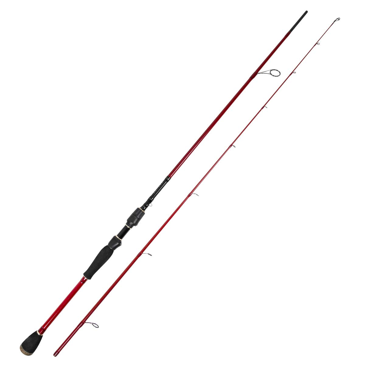 TAIRYO Spinning Fishing Rods 2-Piece, 24 Ton Carbon Fiber Rod with Durable Stainless Steel Guides for Travel Surf Saltwater Freshwater Bass Boat Fishing by TAIRYO