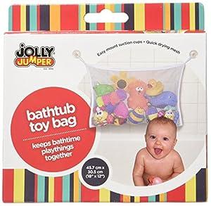 Jolly Jumper Bath Tub Toy Bag, White