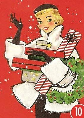 Pack de 10: Postal A6 + + + Navidad de Modern Times + + + Gifts ...