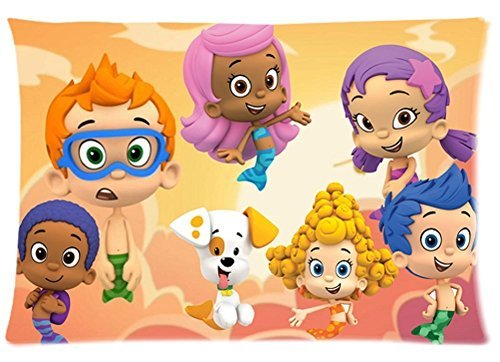 Bubble Guppies Pillowcase 20x30 two sides Zippered Rectangle PillowCases Throw Pillow Covers -